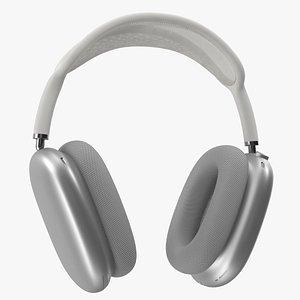 3D headphones silver phone