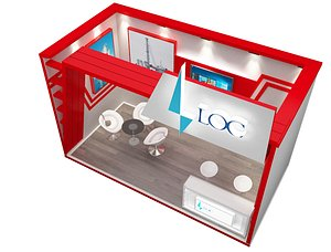 exhibitions booth 3D model