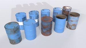 3D model Barrel PBR Pack 2