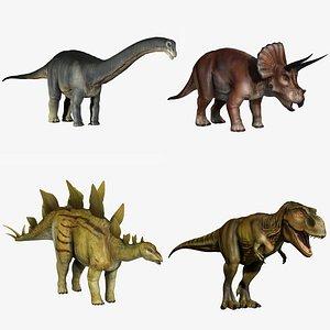 3d apatosaurus tyrannosaurus rex model
