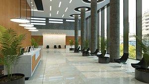 3D lobby design modern model