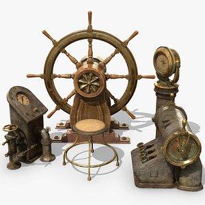 3D steering boat wheel