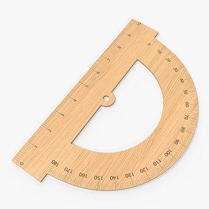 half circle protractor 3D