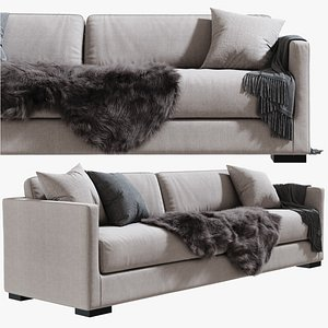 Belmon Sofa Meridiani 260 cm 3D