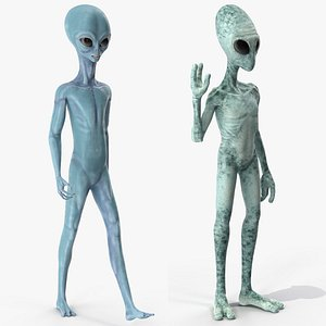3D model humanoid aliens rigged modo