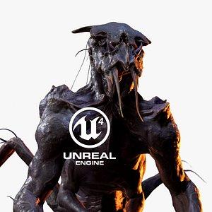 3D character alien model