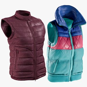 realistic vests 2 collections 3D model