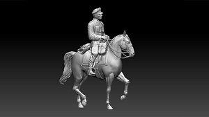 German officer ww2 3D model