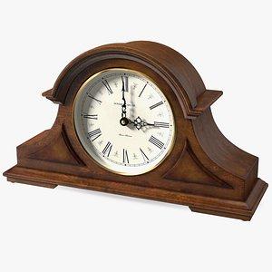 Howard Miller Burton II Mantel Clock Brown 3D