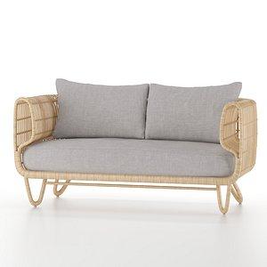 indoor sofa nest 3D