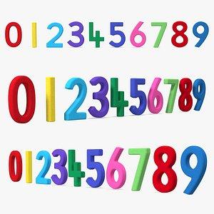 Paper Numbers Set 3D