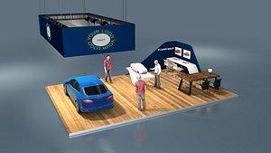 3D model exhibition car