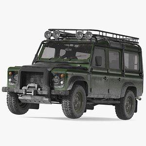 Dirty Off Road Car 3D model
