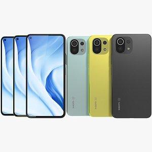 Xiaomi Mi 11 Lite 5G All Colors 3D model