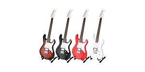 3D model Electric Guitar Yamaha Pacifica 012 BLENDER 3D Model Cycles