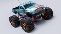 Rc truck model in Blender 3D