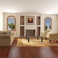 High def Classic living Room