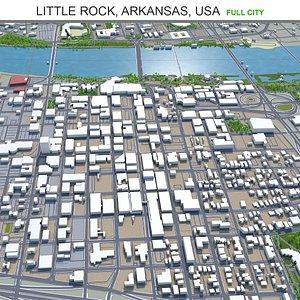 3D Little Rock Arkansas USA model