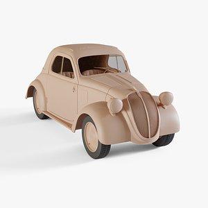 1936 Fiat 500 Topolino 3D model