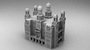3D Commercial building in Chicago model