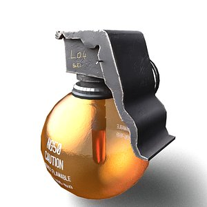 3D model SCIFI Grenade Highly Flamable