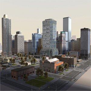 Manhattan Style Block 3D model