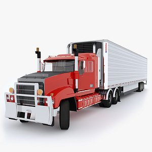 Industrial Truck with Trailers 3D model