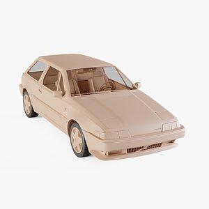 1987 Volvo 480 ES 3D model