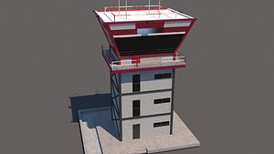 airfield control tower 3D model