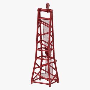 crane d head section 3D