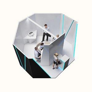 Modern Stand -  Minimalist Design 3D