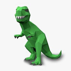 t-rex Papercraf 3D