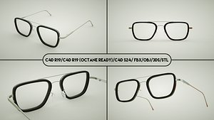3D EDITH Glasses From Spider Man model