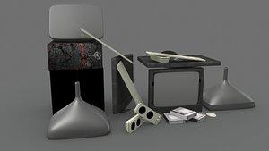 3D Broken Computer