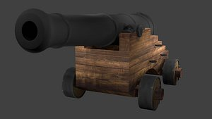 CANNON - WHEELED CANNON 3D model