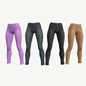 Casual pants - 4 colors 3D model