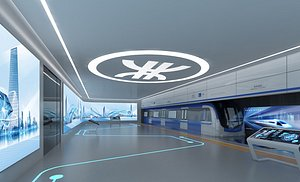 3D Subway exhibition hall number sense of science and technology sense of subway station