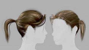 3D hair pbr