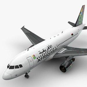 3D AirbusA319-100AfriqiyahAirwaysL1386