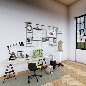 3D Fashion designer room