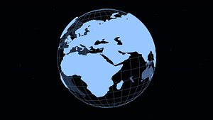 Simple schematic globe - two versions 3D model