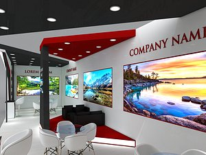 3D booth exhibit stand