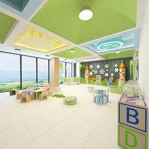 3D Kindergarten Playground