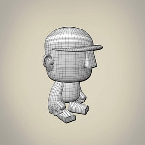 toy character base mesh model