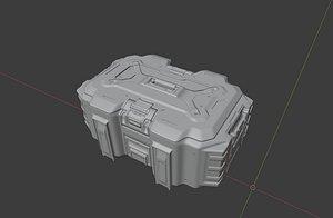 box sci fi 3D model