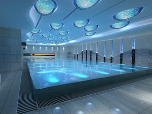 Natatorium swimming pool pool swimming competition 3D model