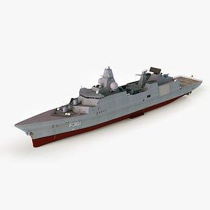 iver huitfeldt class frigates 3D
