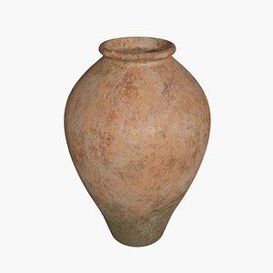 3D Terracotta Vase - Pot