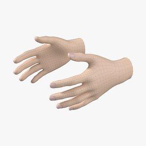 3D Female Hand Base Mesh 02