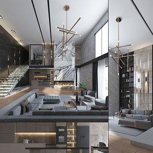 3D model Luxury Loft Apartment Interior